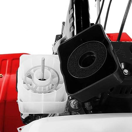 Greencut GTC300X GTC300X-Motoazada de Gasolina 7cv Ancho 85cm 3 Marchas con Ruedas y Asurcador, Rojo