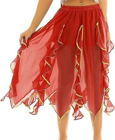 Agoky Falda Tul Mujer de Danza Ballet Falda Larga Irregular ...