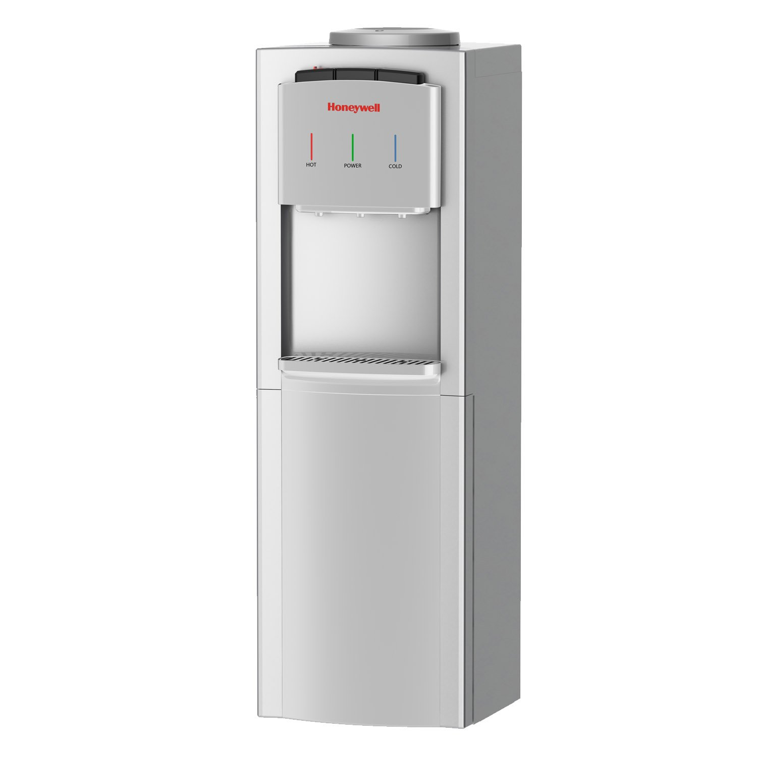 Honeywell HWB1033S2 41-Inch Cabinet Freestanding Hot, Cold & Room Water Dispenser with Stainless Steel Tank to help improve water taste, Back Handle for EASIER HANDLING, Silver