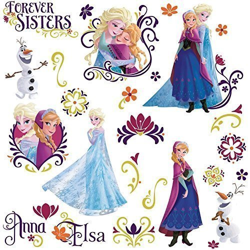 Disney Princess Spring (Wall decal for girl FROZEN SPRING 27 Wall Decals Disney Princess Room Decor Stickers Elsa Anna Olaf)