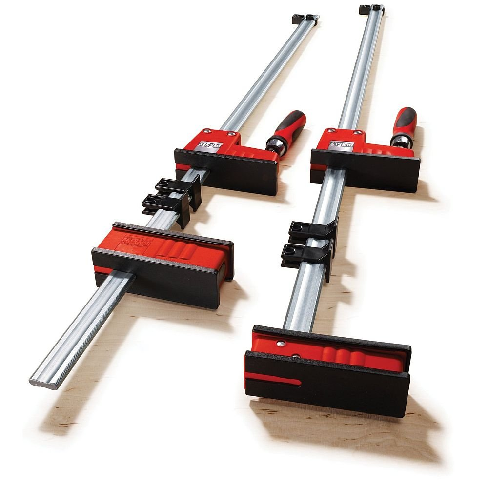 Pair of 98'' Bessey KRV-98 Vario REVO Sliding Jaw Parallel Clamps by Bessey