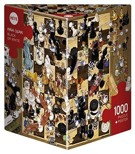 Heye Triangular Degano Puzzles (Black/White, 1000-Piece)