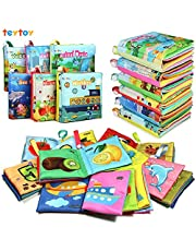 My First Soft Book, TEYTOY Nontoxic Fabric Baby Cloth Books Early Education Toys Activity Crinkle Cloth Book for Toddler, Infants and Kids Perfect for Baby Shower -Pack of 6