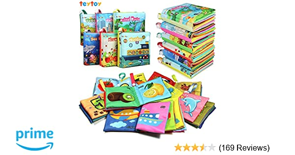 Amazon Com Teytoy My First Soft Book Nontoxic Fabric Baby Cloth