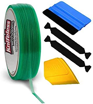 2 Rolls w//Toolkit VViViD Wrap Cut Vinyl Wrap Edge Cutting Detailer Tape 200ft Including 3M Vinyl Wrap Toolkit Squeegee, Detailer, 3 Felts