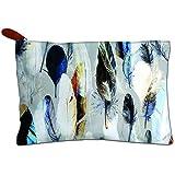 Paper Plane Design Women's Day Canvas Zipper Pouch Gift (Blue)