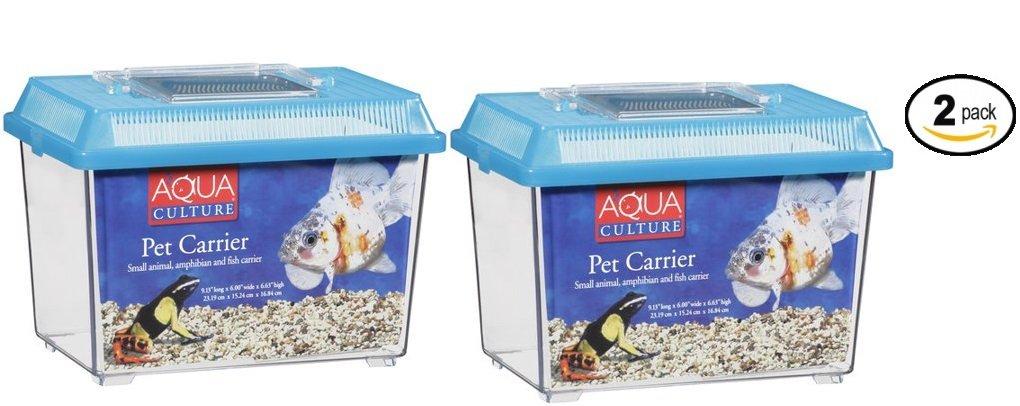 Aqua Culture Pet Carrier for Small Animals/Amphibians & Fish - Pack of 2