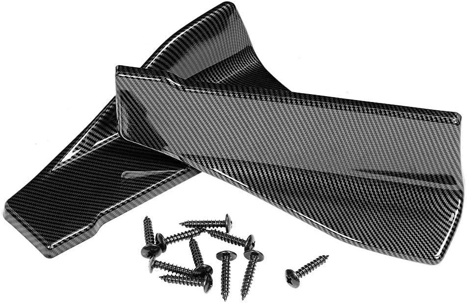 EBTOOLS 35cm Carbon Seitenschweller Automobil Universal Seitenschweller//Hecksch/ürze Lip Splitter Winglet Sch/ürzen