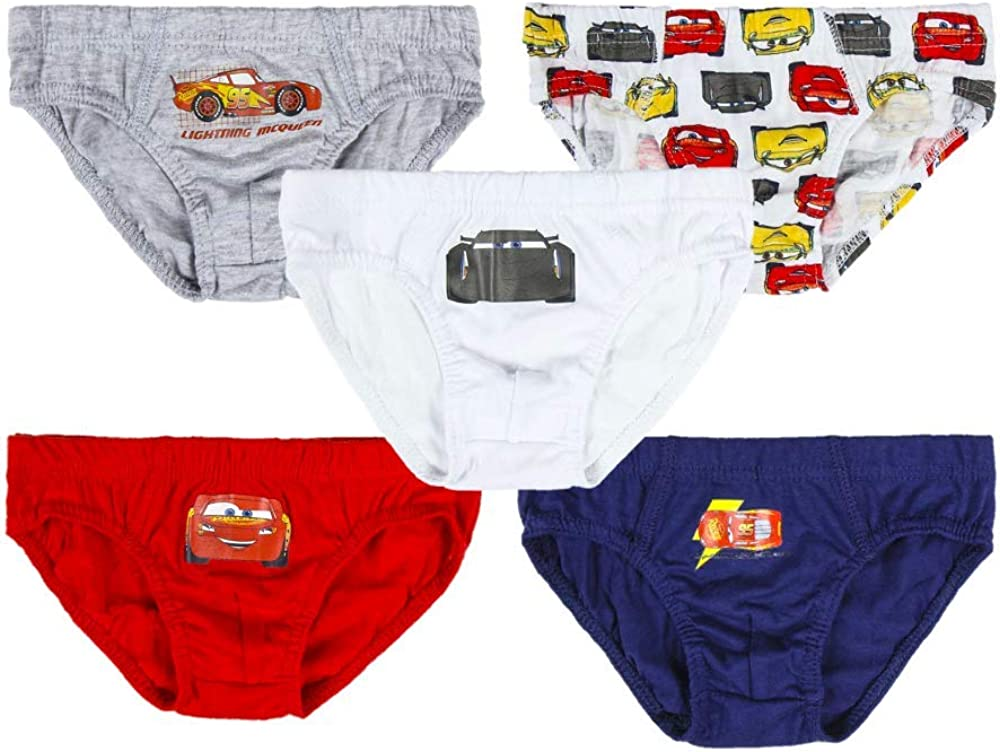 Baby Boys Toddler Underpants 3 to 6 Years Trunks Childrens Underwear Multipack of 5 Disney Pixar Cars Boys Pants Briefs 100/% Soft Cotton Pants Short Boxers