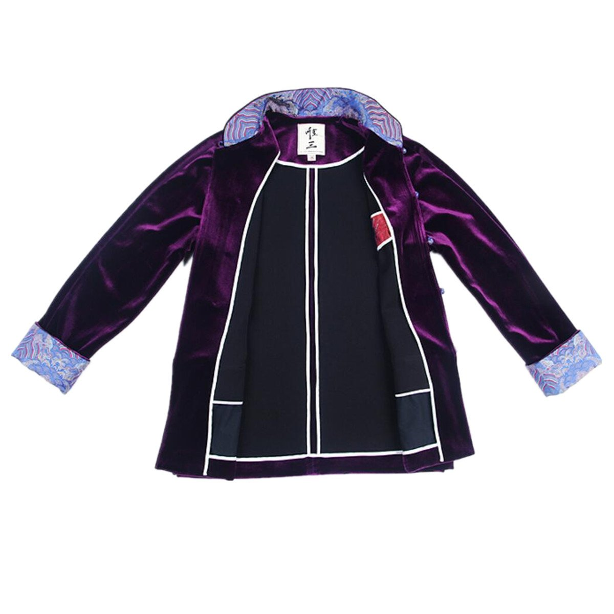 WEISAN Mens Chinese Traditional Tang Suit Velvet Chinese Kung Fu Costume Coat by WEISAN (Image #5)
