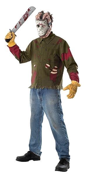 Mask Friday 13th Fancy Dress Costume Mens Adult JASON VOORHEES Hockey Shirt