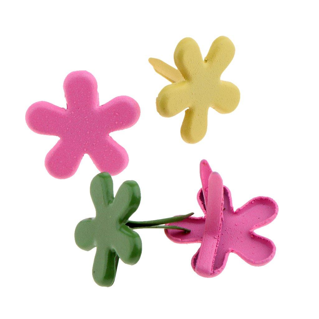 FITYLE Sortiment Bastelklammern sternform 100 st/ück Klammern mit Rundkopf Blume Sterne Kopf Musterklammern zur Dekoration Basteln