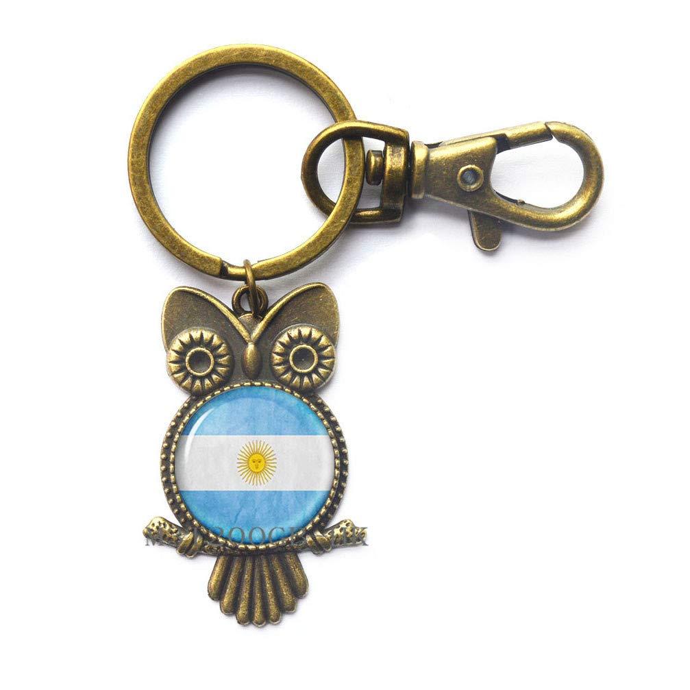 Llavero de búho hecho a mano con la bandera de la Argentina ...