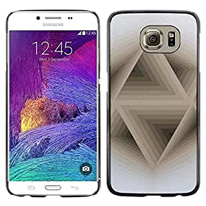 LECELL--Funda protectora / Cubierta / Piel For Samsung Galaxy S6 SM-G920 -- 3D Abstract Beige White Pattern --