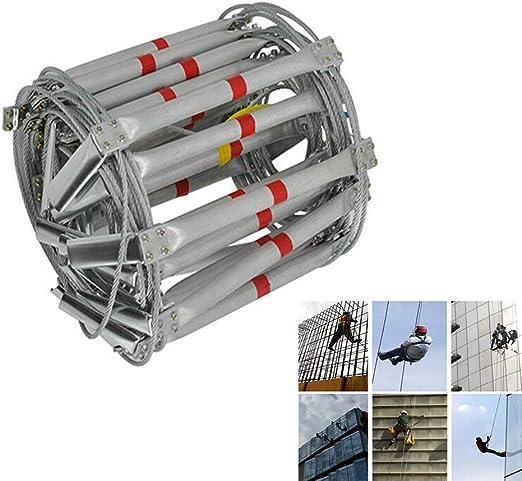 PJDDP Escalera Emergencia para Incendios, escaleras Cuerda Alambre Acero Plegables con aleación Aluminio Reutilizable Supervivencia en emergencias Seguridad Rescate Herramientas Antideslizantes,15M: Amazon.es: Hogar