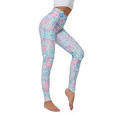 cinnamou Pantalones Mujer, Pantalon Yoga Cintura Alta Pantalones ...