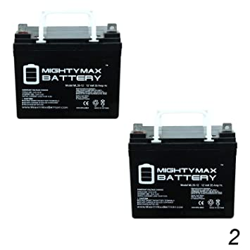 Mighty Max Battery 12V 35Ah Pride Mobility BATLIQ1017 AGM U1 Replacement  Battery - 2 Pack