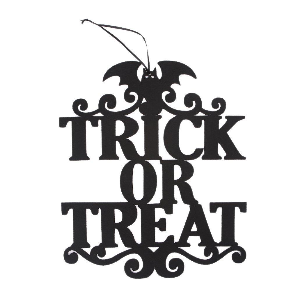 Ruda Trick Or Treat Door Hanger Sign Halloween Hanging Non-woven Decoration Crafts