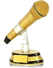 Dreifarbiger Mikrofon-Pokal aus Resin - inklusive kostenloser Gravur!