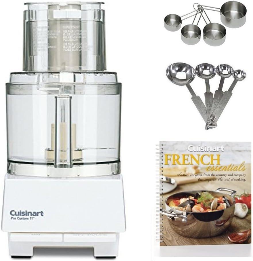 Amazon Com Cuisinart Dlc 8s Pro Custom 11 Cup Food Processor W Measuring Spoon Set Measuring Cup Bundle Kitchen Dining