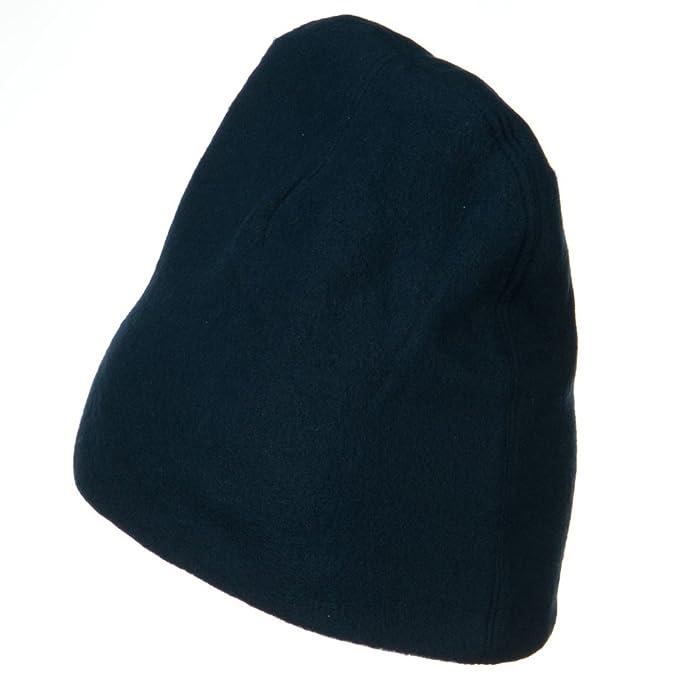 aa15af714e0 Amazon.com  H C Deluxe Polar Fleece Beanie - Navy OSFM  Clothing