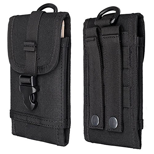 MAXGOODS Tactical Molle Military Pouch Smartphone Holster,Universal Mobile Phone Belt EDC Security Pack Carry Cell Phone…