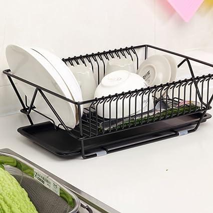 fuentes de la cocina estante por goteo sola canasta de drenaje plato estante para platos estante