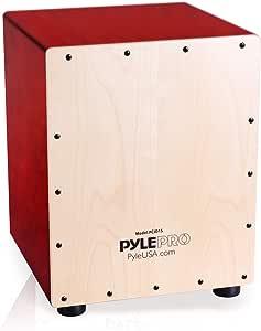 Pyle Stringed Jam Cajon - Wooden Cajon Percussion Box. (PCJD15)