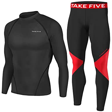 e6967c18206ff Men Sports Apparel Skin Tights Compression Base Under Layer Shirts & Pants  SET (S,