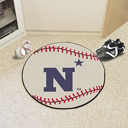 Fanmats Home Indoor Sports Team Logo US Naval Academy Baseball Mat