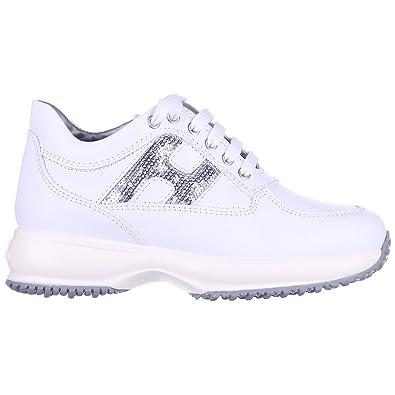 Hogan Chaussures Baskets Sneakers Filles en Cuir Neuves