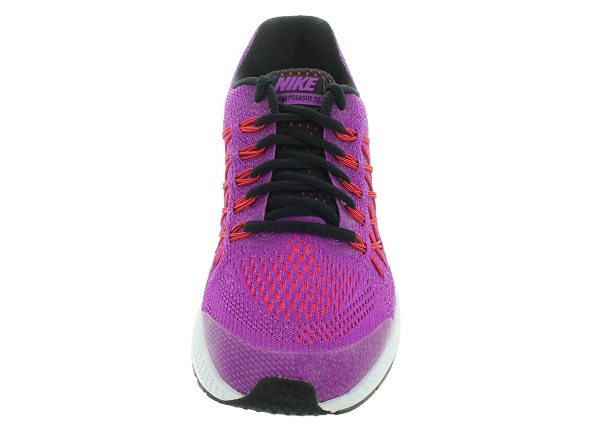 6a7969c9d861 Amazon.com  Nike Girls  Zoom Pegasus 32 Running Shoes-Vivid Purple Black  (7)  Shoes