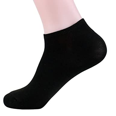 Sattaj Men Quarter Socks Low Cut Ankle Black White Gray Men Cotton Casual Crew Socks calcetines