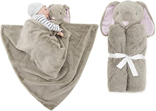 Vine Boys Baby Blanket Infant Sleeping Bag Bathrobe Towel Cute Animal Head Newborn Swaddling 76x76cm Brown Elephant