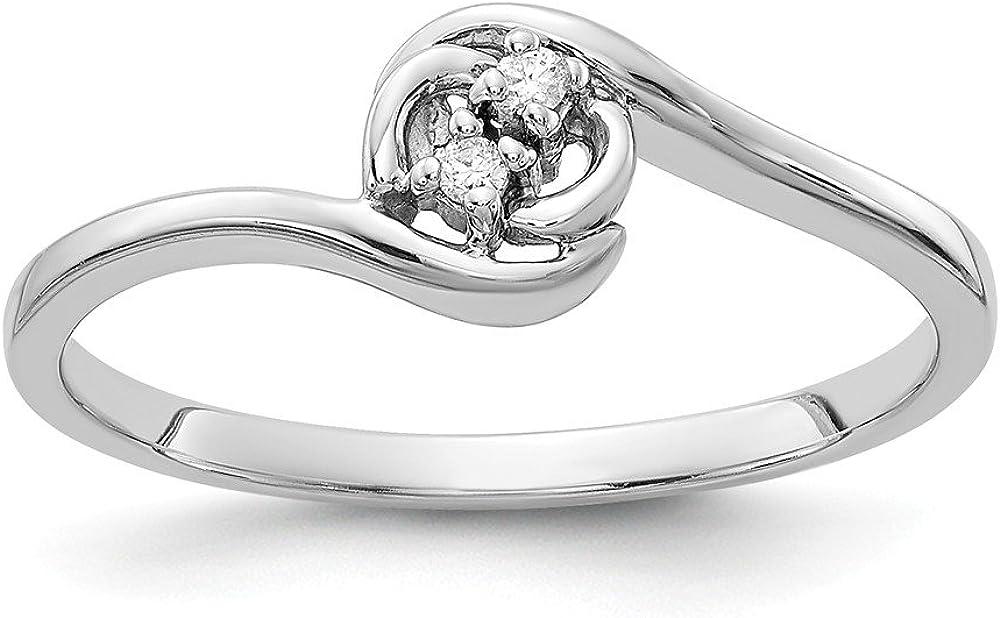 Jewelry Adviser Rings 14k White Gold VS Diamond ring Diamond quality VS VS2 clarity, G-I color