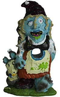 zombie gnome girl garden statue sculpture halloween decor - Halloween Statues