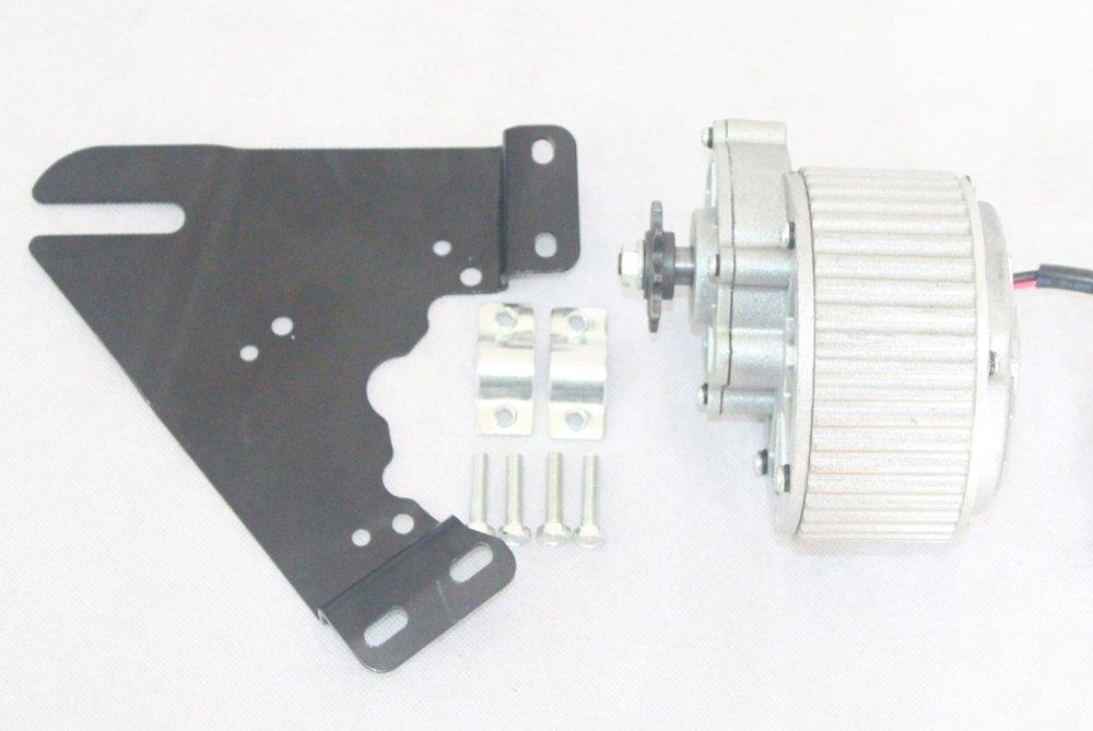 324v36v 450ワット電動ブラシモーター電動バイクアルミdcモーターmy1018電動自転車変換キットモーター [並行輸入品] B076F4L64H 24V450W