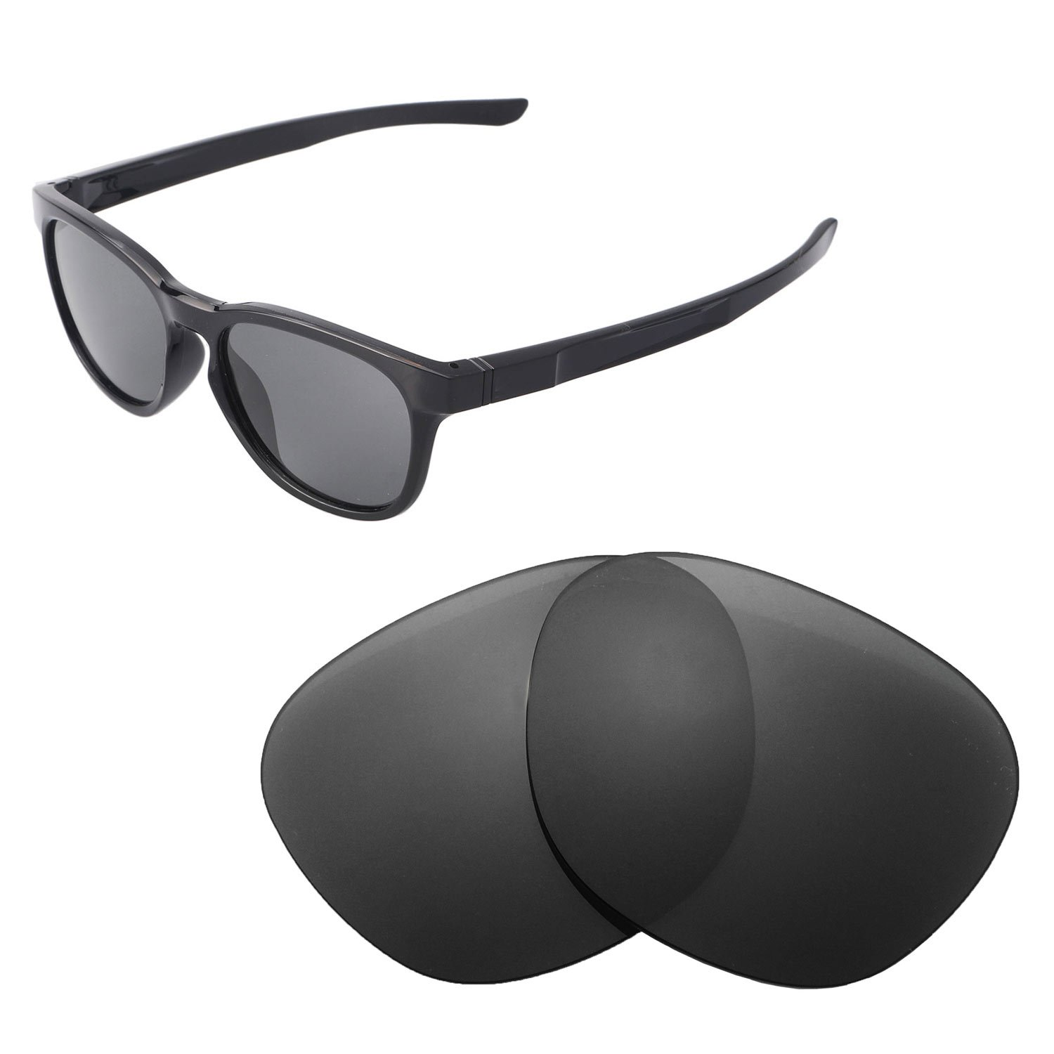 f7a9156f8a Amazon.com  Walleva Replacement Lenses for Oakley Stringer Sunglasses - Multiple  Options Available (Black - Polarized)  Clothing