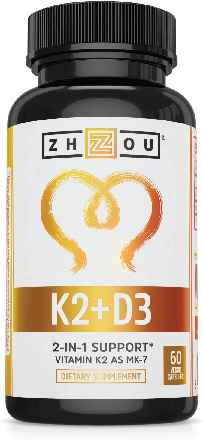 Amazon.com: Vitamin K2 (MK7) with D3 Supplement - Vitamin D & K Complex - Bone and Heart Health Formula - 5000 IU Vitamin D3 & 90 mcg Vitamin K2 MK-7 - 60 Small & Easy to Swallow Vegetable Capsules: Health & Personal Care