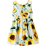 Amazon Price History for:Chinatera Little Girls Sunflower Tutu Dress Toddler Girl One Piece Sleeveless Beachwear Outfit for Summer