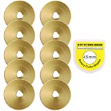 Titanium Coated Rotary Cutter Blades 45mm 10 Pack Replacement Blades Quilting Scrapbooking Sewing Arts Crafts,Sharp and Durab