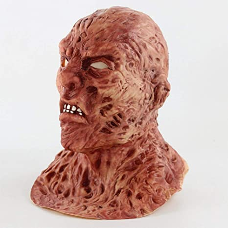 Zhanghaidong - Máscara de Halloween para Hombre, Disfraz de Hombre Quemado, Disfraz de Halloween, Disfraz de Horror de Halloween, bioquímica, Zombie, máscara de Fantasma, Jason, Zombie: Amazon.es: Deportes y aire libre