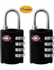 Cochanvie TSA maletas para equipaje, [Nueva versión] [2 Paquetes] Candado de seguridad de 4 dígitos, candados de combinación, bloqueo de código para maletas de viaje Maleta con maleta, etc.