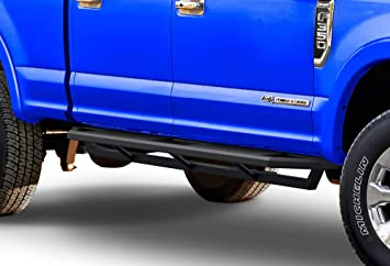 Amazon Com Aps Iarmor Aluminum Side Steps Armor Compatible With Ford F250 F350 Super Duty 1999 2016 Crew Cab Excursion 1998 2005 Nerf Bars Side Steps Side Bars Automotive