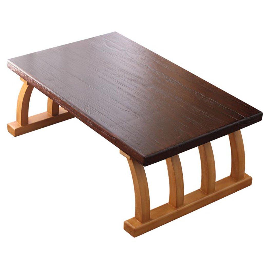 バルコニーテーブル小さなコーヒーテーブル低テーブル無垢材テーブルベイウィンドウテーブル畳の和風 ガーデンファニチャー B07GNFZZC7 Black 80*50*30cm/32*20*12inch