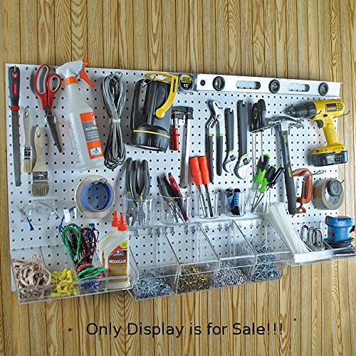 New 48''x24'' White Peg Board Kit Tool Storage Organizer w/Hooks Display Panel by Pegboard (Image #8)