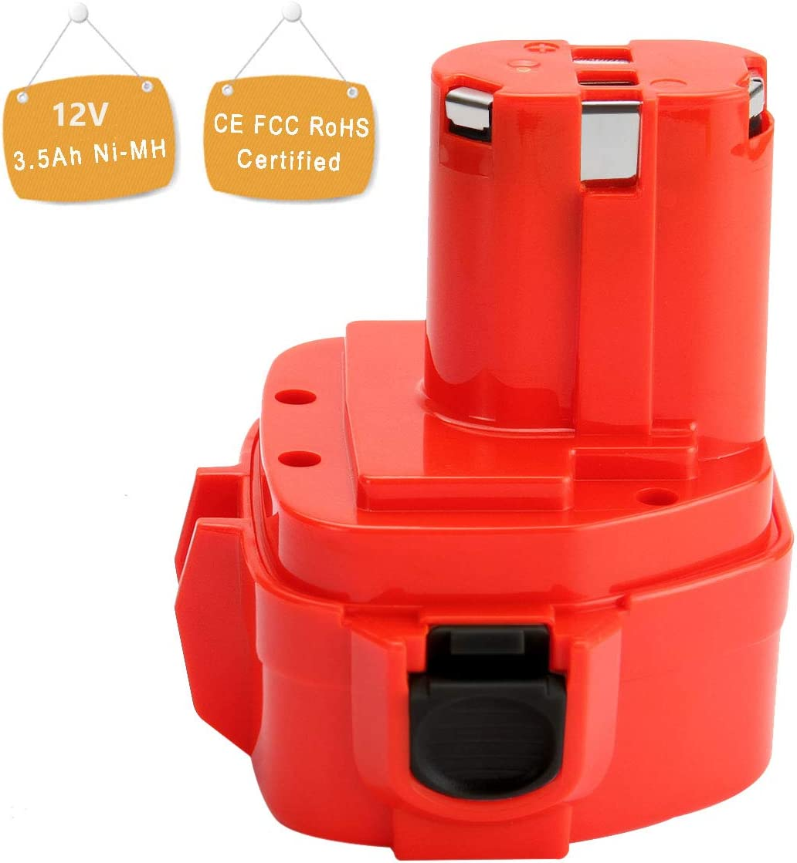 Shentec 3,5Ah Ni-MH pour Batterie Makita 9,6V PA09 9100 9120 9122 192595-8 192596-6 192638-6 193977-7 638344-4-2