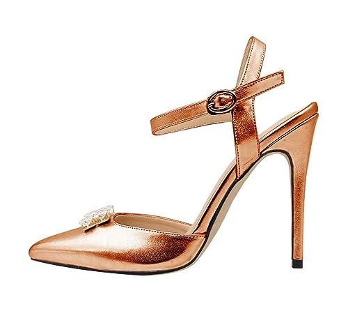 Guoar - Scarpe chiuse Donna , Marrone (bronzo), 37/24cm: Amazon.it: Scarpe  e borse