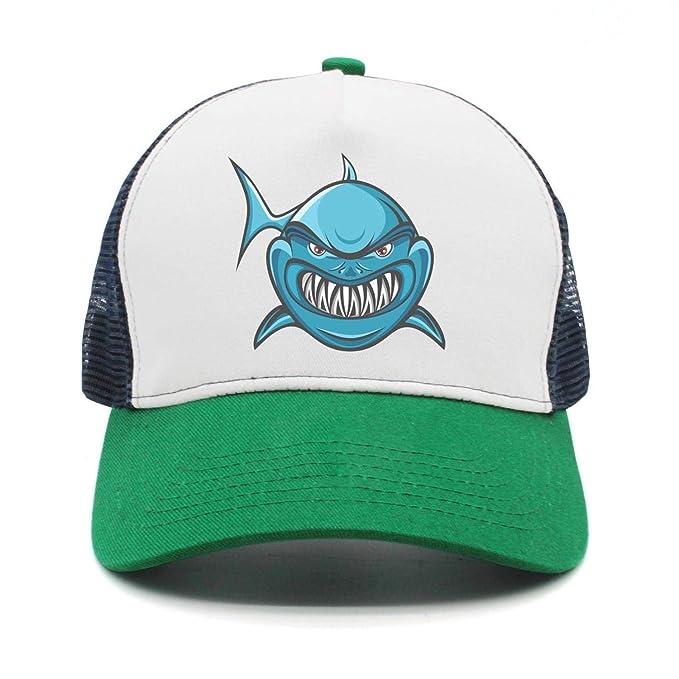 eb0238185cb Ferocious Cool Shark Teeth Women Men Snapback Hat Mesh Adjustable Sports  Cap Rock Punk caps