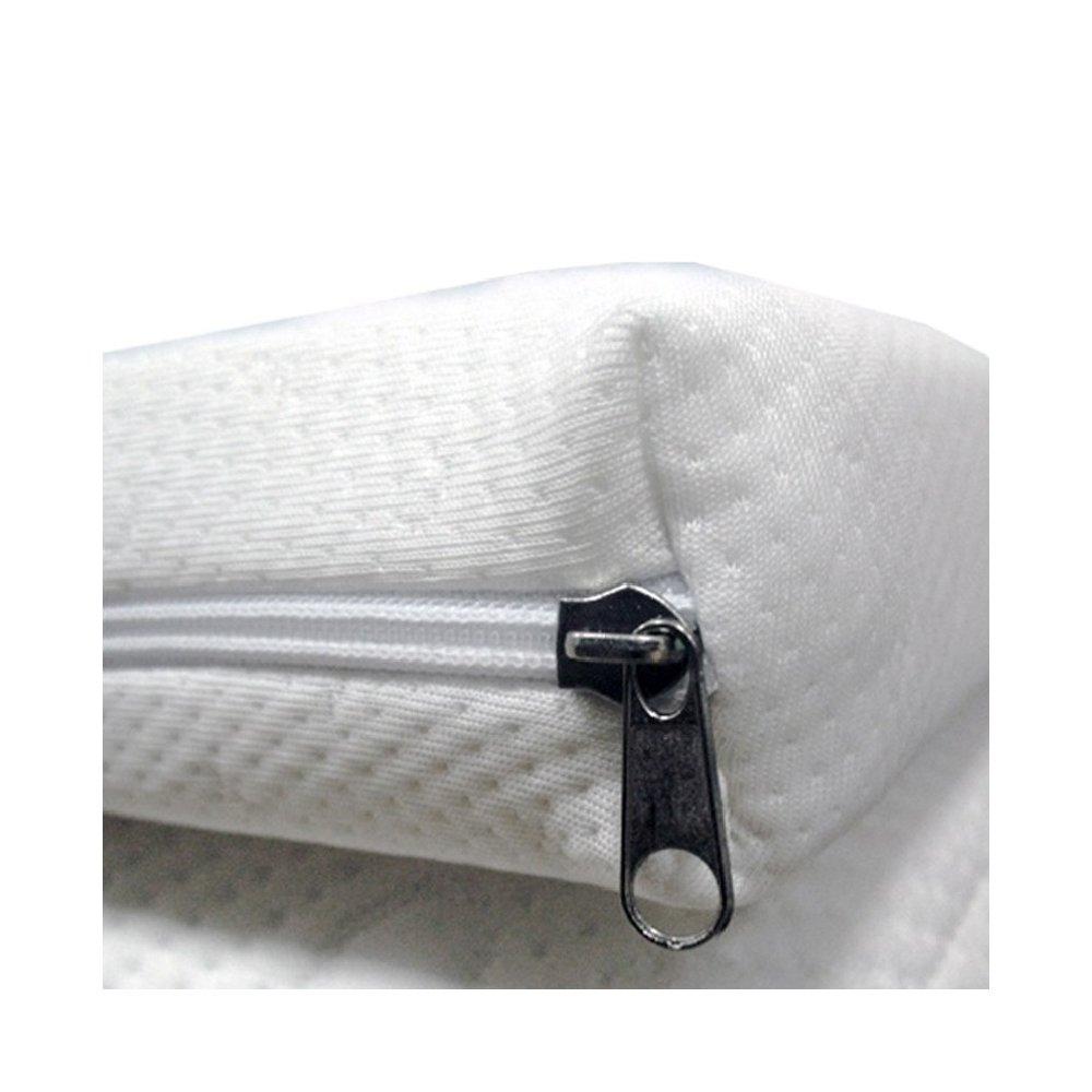 Topper Correttore in Memory Foam Alto 6cm per Materasso Matrimoniale 170x190 con Rivestimento sfoderabile INmaterassi